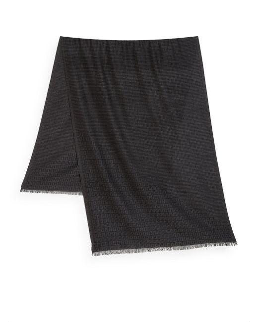 Fendi | Gray Logo-Jacquard Wool Scarf for Men | Lyst
