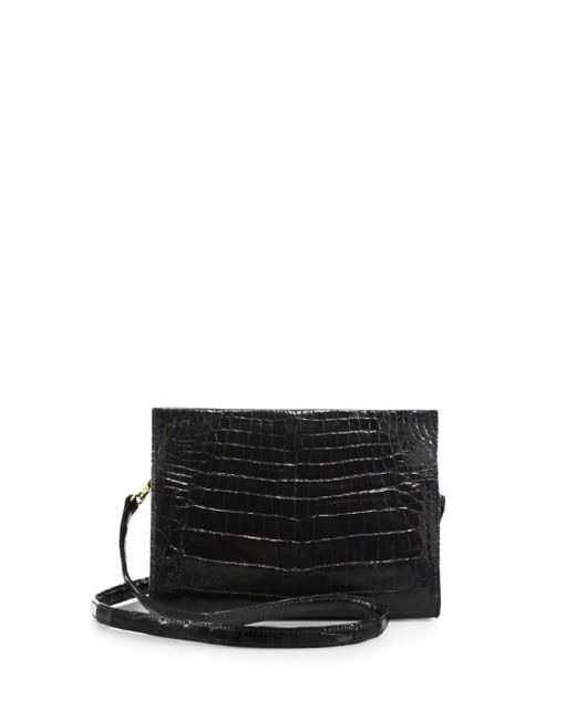 Nancy Gonzalez - Gray Small Crocodile Clutch - Lyst