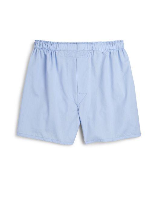 Saks Fifth Avenue - Blue Supima Cotton Boxers for Men - Lyst