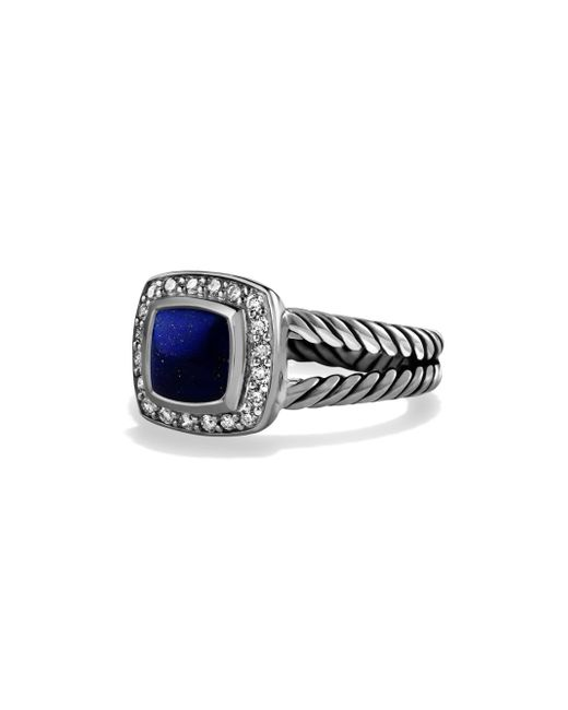David Yurman - Multicolor Petite Albion Ring With Lapis Lazuli And Diamondsfrom The Albion Collection - Lyst