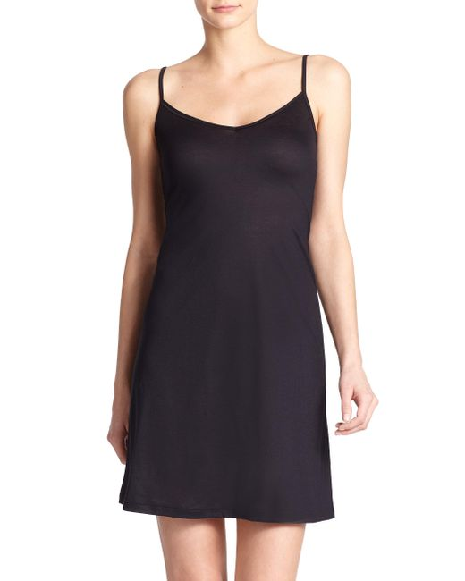 Hanro - Black Ultralight Body Dress - Lyst