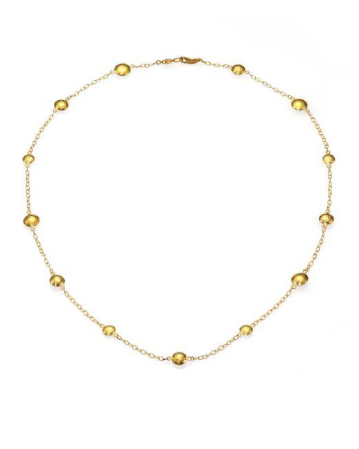 Gurhan - Metallic Lentil 24k Yellow Gold Mini Station Necklace - Lyst