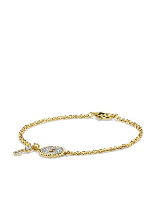 David Yurman - Metallic Cable Collectibles Lock Bracelet With Diamonds In Gold - Lyst