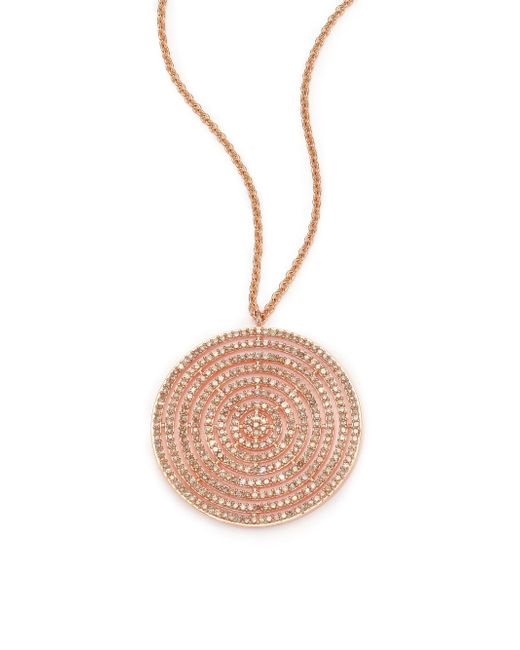 Astley Clarke - Pink Icon Light Grey Diamond & 14k Rose Gold Aura Long Large Pendant Necklace - Lyst