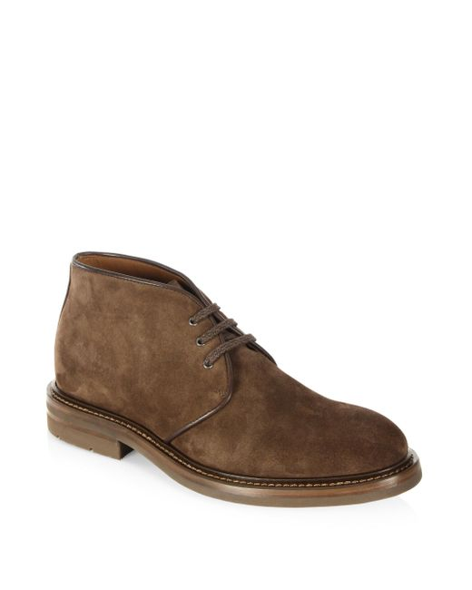 Aquatalia | Brown Raphael Suede Chukka Boots for Men | Lyst
