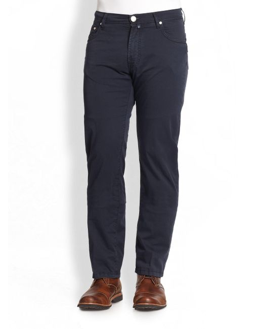 Corneliani | Blue Five-pocket Cotton Pants for Men | Lyst