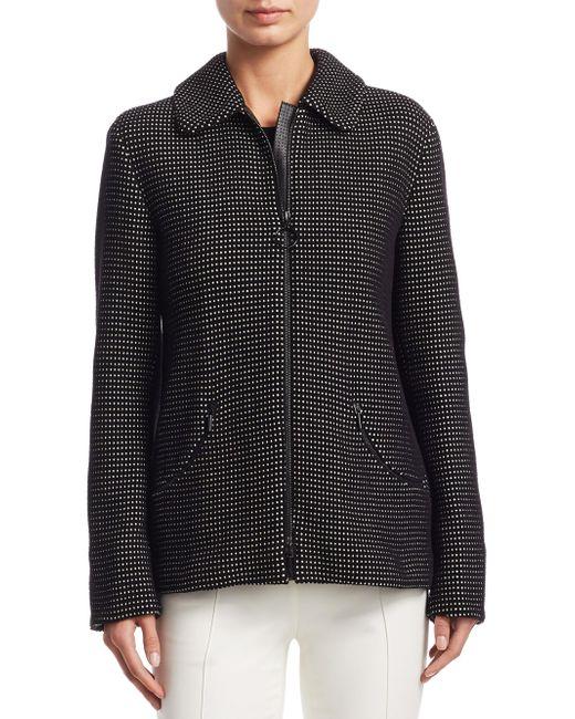 Akris Punto - Black Mini Dot Jacquard Jacket - Lyst