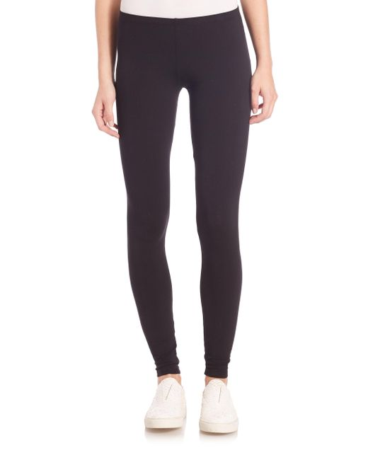 Splendid - Black Stretch Cotton-&-modal Leggings - Lyst