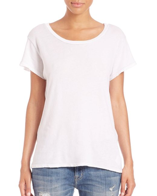 Current/Elliott - White Sugar Crewneck Tee - Lyst