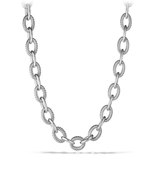 David Yurman - Metallic Oval Extra-large Link Necklace - Lyst