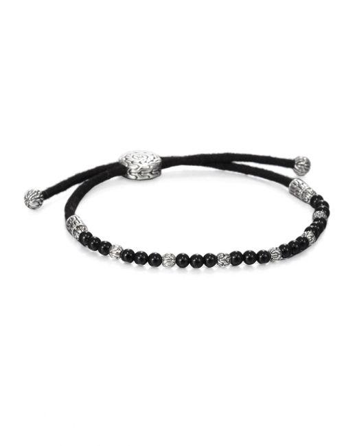 John Hardy - Black Beaded Cord Bracelet for Men - Lyst