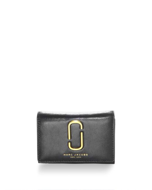 Marc Jacobs | Black Leather Tri-fold Wallet | Lyst