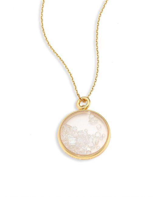 Aurelie Bidermann - Metallic Fine Pearl & 18k Yellow Gold Medallion - Lyst