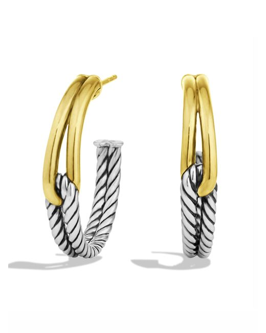 David Yurman | Metallic Labyrinth Hoop Earrings With Gold | Lyst