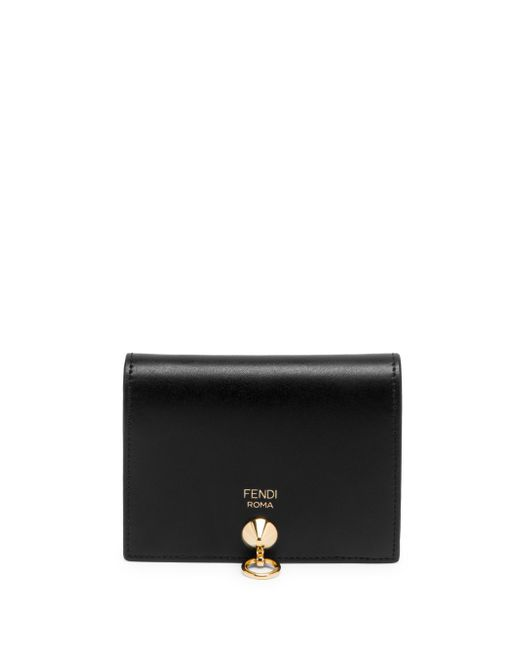 Fendi - Black Small Leather Wallet - Lyst