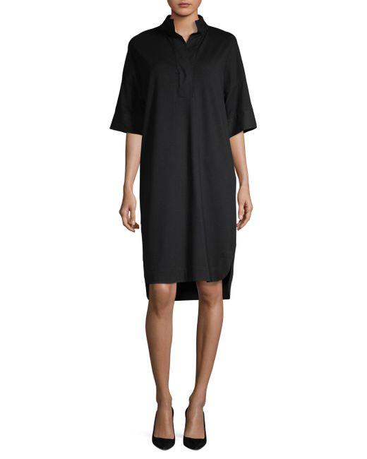 Lafayette 148 New York - Black Tamara Combo Shirt Dress - Lyst