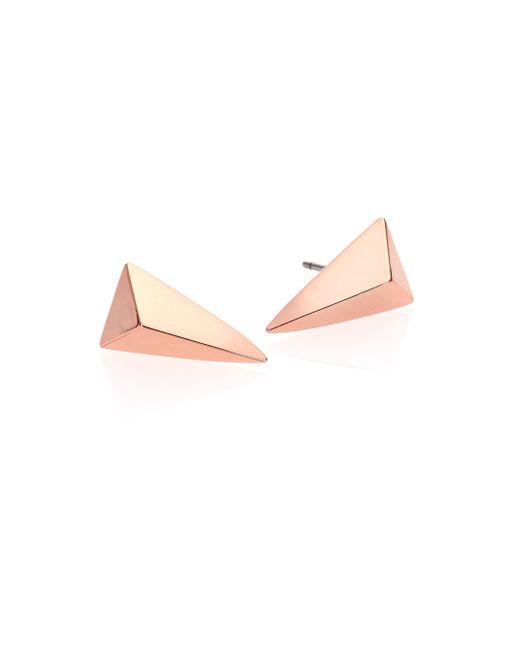 Alexis Bittar | Pink Miss Havisham Jagged Pyramid Stud Earrings | Lyst