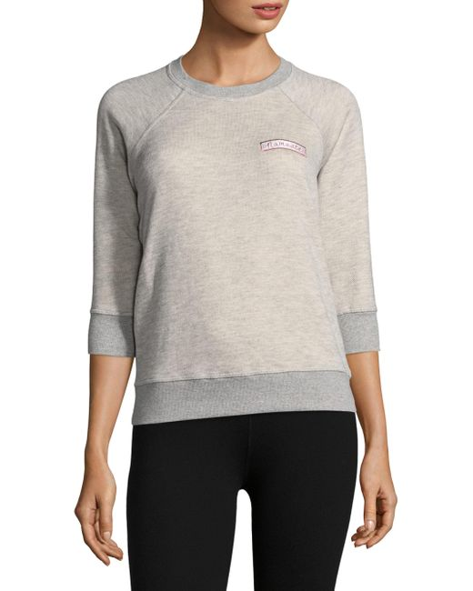 Spiritual Gangster - Gray Namaste Cotton Sweatshirt - Lyst