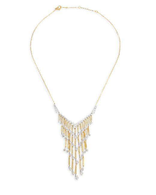 Adriana Orsini - Metallic Greta Fringe Swarovski Crystal Necklace - Lyst