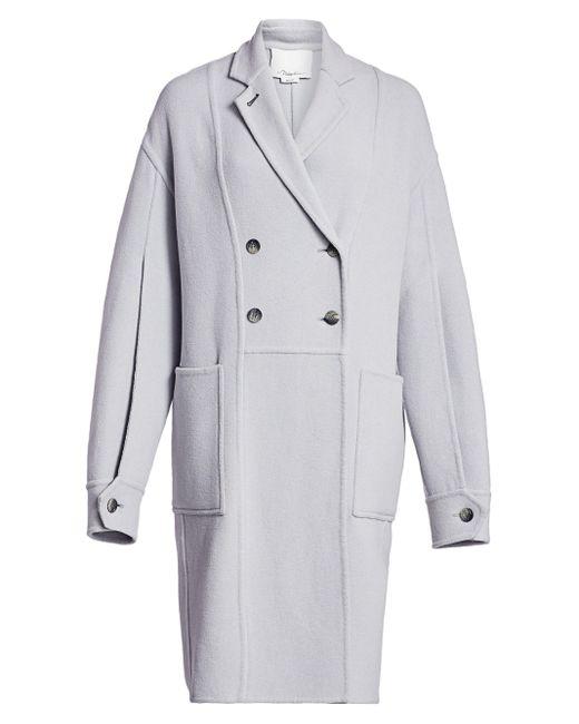 3.1 Phillip Lim Gray Long Oversized Merino Wool Coat