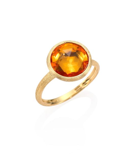 Marco Bicego - Metallic Citrine & 18k Yellow Gold Medium Stackable Ring - Lyst