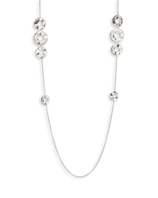 Ippolita - Metallic Sensotm Sterling Silver Open Disc Station Necklace - Lyst