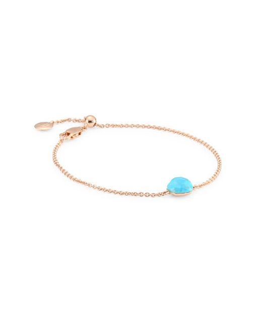 Monica Vinader - Multicolor Nura Mini Turquoise Nugget Bracelet - Lyst