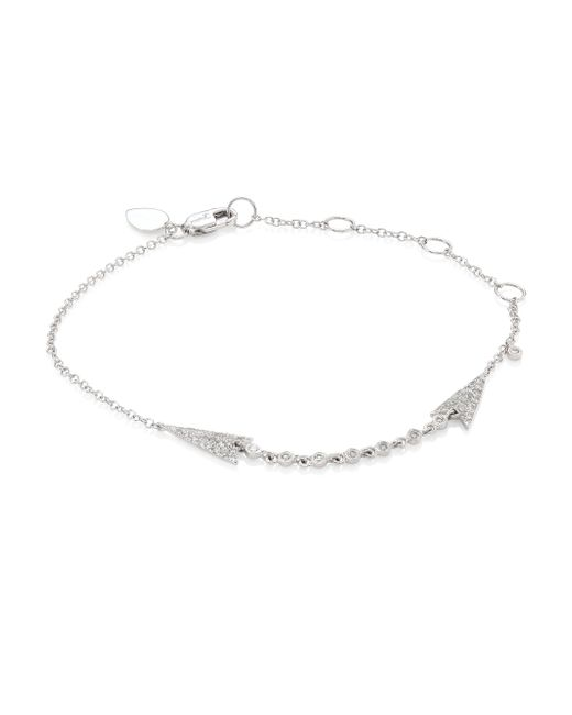 Meira T | Multicolor Arrow Diamond & 14k White Gold Bracelet | Lyst