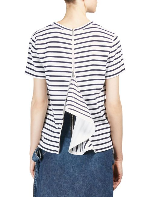 Sacai | Blue Dixie Striped Tee | Lyst