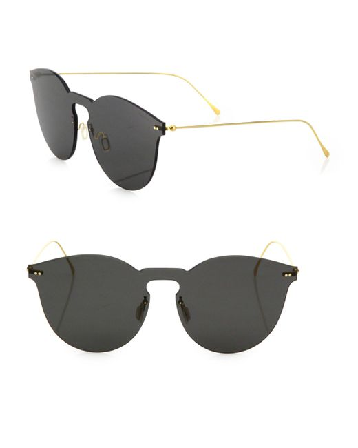 Illesteva - Gray Leonard Ii Mask 50mm Round Sunglasses - Lyst