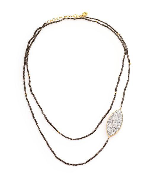 Shana Gulati - Metallic Banjara Sirsi Sliced Raw Diamond & Pyrite Necklace - Lyst