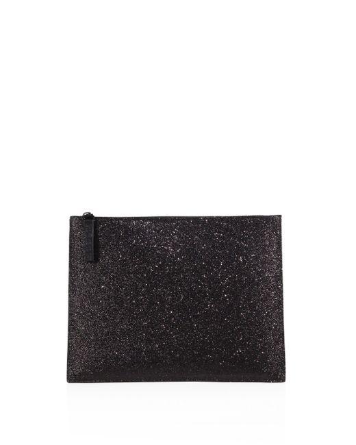 Maison Margiela   Black Calf Leather Glitter Pouch   Lyst