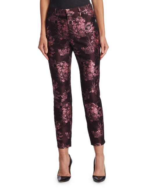 Saks Fifth Avenue | Red Collection Brocade Crop Trousers | Lyst