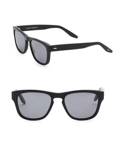 Barton Perreira - Black Bunker 54mm Square Sunglasses for Men - Lyst