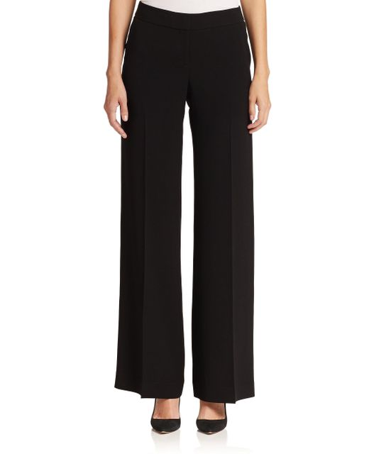 Lafayette 148 New York | Black Wide-leg Pants | Lyst