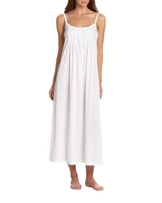 Lyst - Hanro Juliet Long Chemise Gown in White