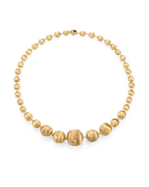 Marco Bicego - Metallic Africa 18k Yellow Gold Graduated Ball Necklace - Lyst