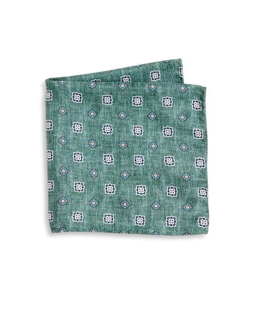 Saks Fifth Avenue - Green Collection Flower Diamond Printed Pocket Square for Men - Lyst