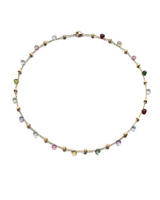 Marco Bicego | Multicolor Paradise Semi-precious Multi-stone & 18k Yellow Gold Station Necklace | Lyst