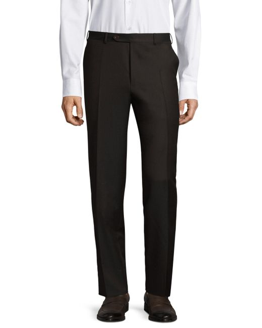 Canali - Brown Twill Wool Trousers for Men - Lyst