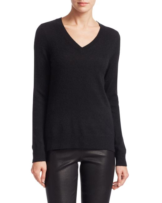 Saks Fifth Avenue - Black Collection Featherweight Cashmere V-neck Sweater - Lyst