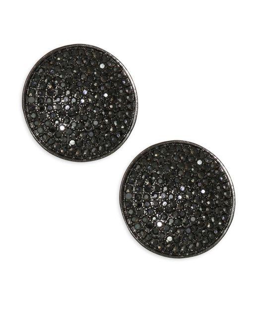 Nest - Black Pavé Stud Earrings - Lyst