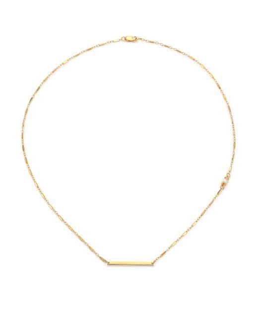 Jennifer Zeuner | Metallic White Sapphire Baguette Chain Bar Necklace | Lyst