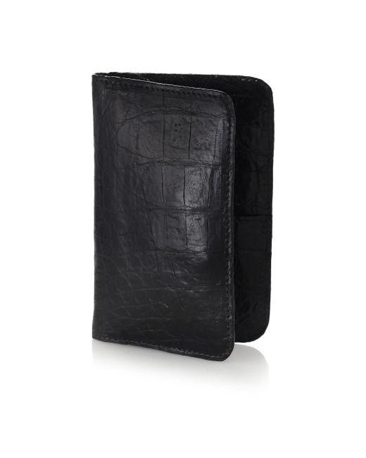 Santiago Gonzalez | Black Crocodile Small Wallet for Men | Lyst