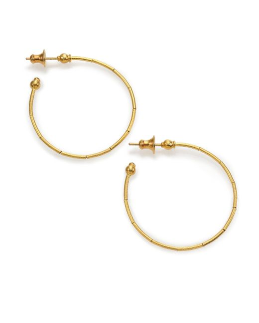 Gurhan - Metallic 24k Small Rain Hoop Earrings - Lyst