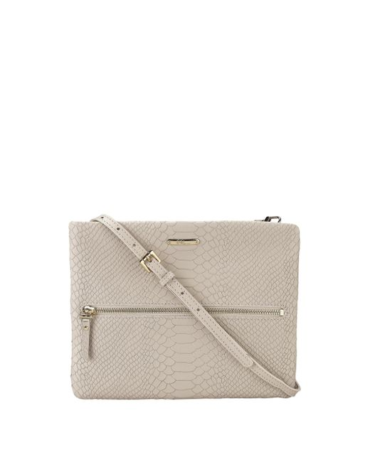 Gigi New York   Natural Python-Embossed Leather Cross-Body Bag   Lyst