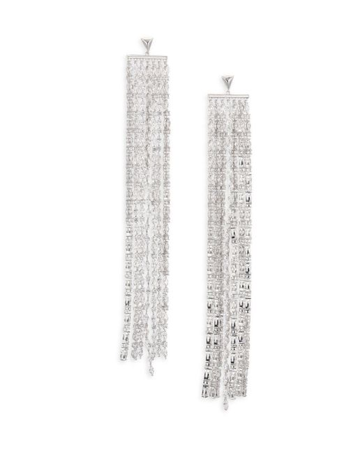 Fallon - Metallic Marquis Waterfall Drop Earrings - Lyst