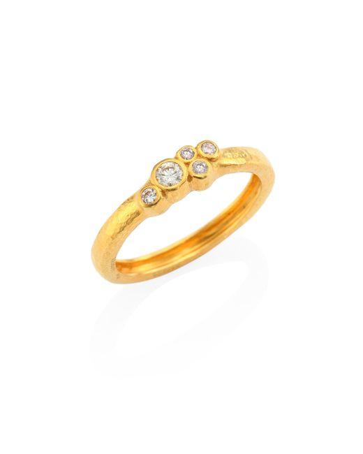 Gurhan | Metallic Pointelle Diamond & 22k Yellow Gold Ring | Lyst