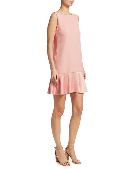 Theory - Pink Flirty Flare Shift Dress - Lyst
