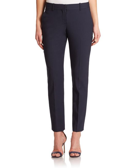Theory - Blue Testra Edition Stretch Wool Cropped Pants - Lyst